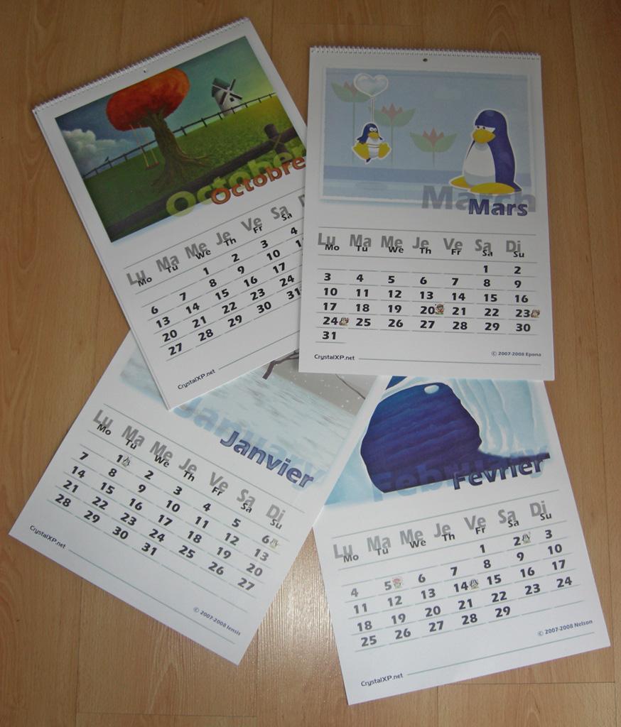 fila de calendar